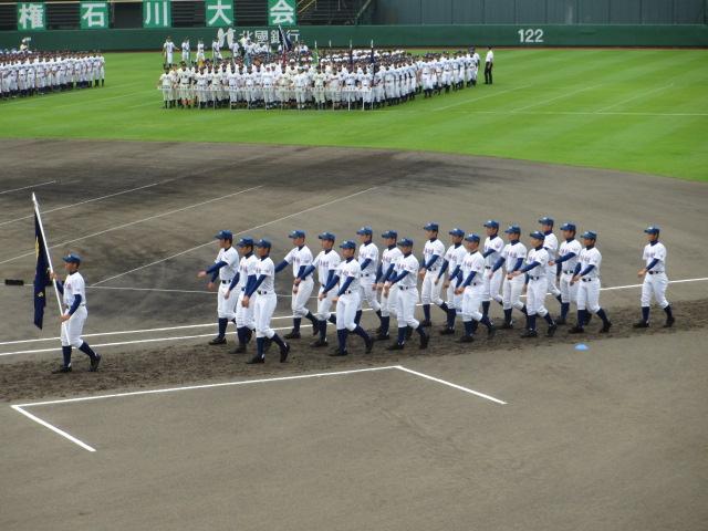 高校野球開会式 014