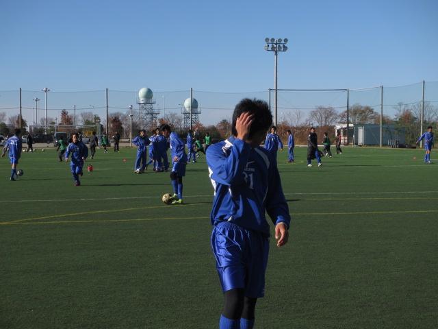 2012.11.25  サッカー部トレーニングマッチ 対小松大谷 012