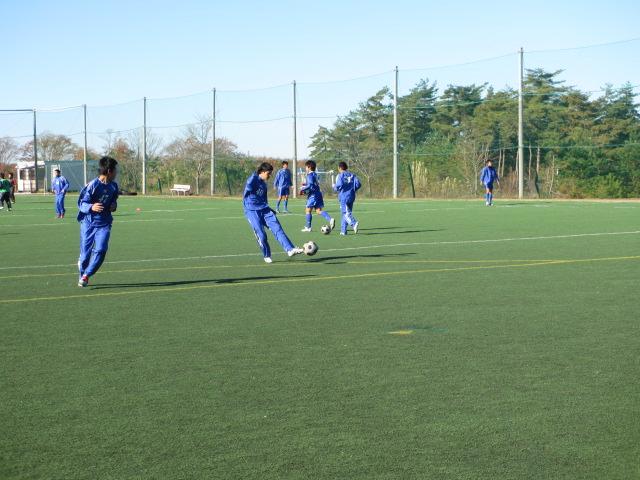 2012.11.25  サッカー部トレーニングマッチ 対小松大谷 016