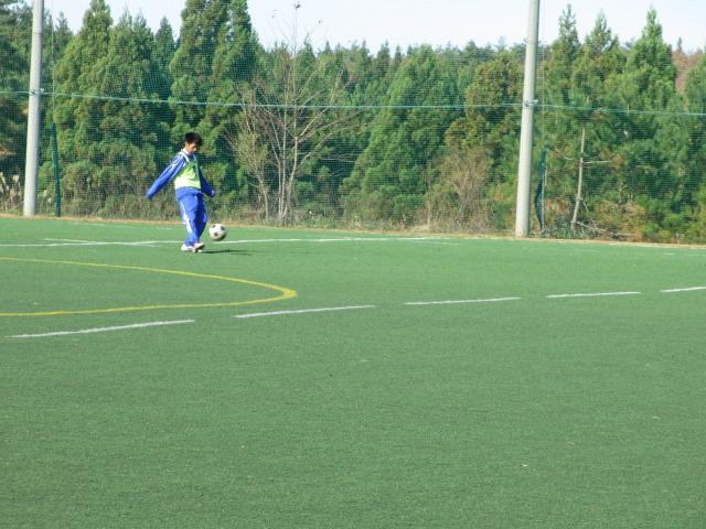 2012.11.25  サッカー部トレーニングマッチ 対小松大谷 100