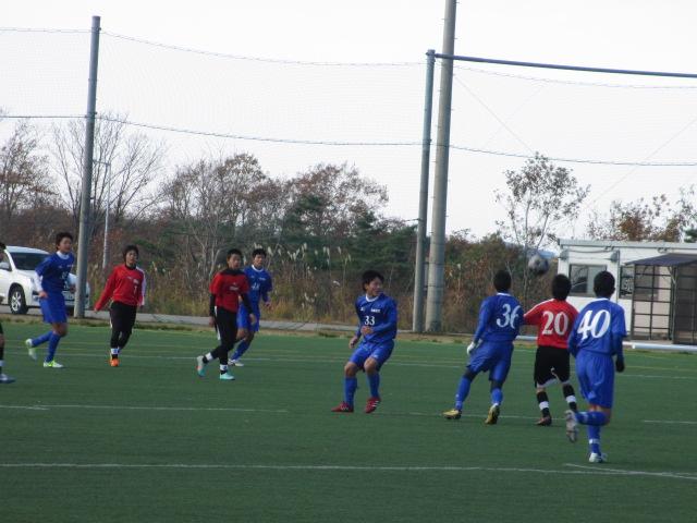 2012.11.25  サッカー部トレーニングマッチ 対小松大谷 112
