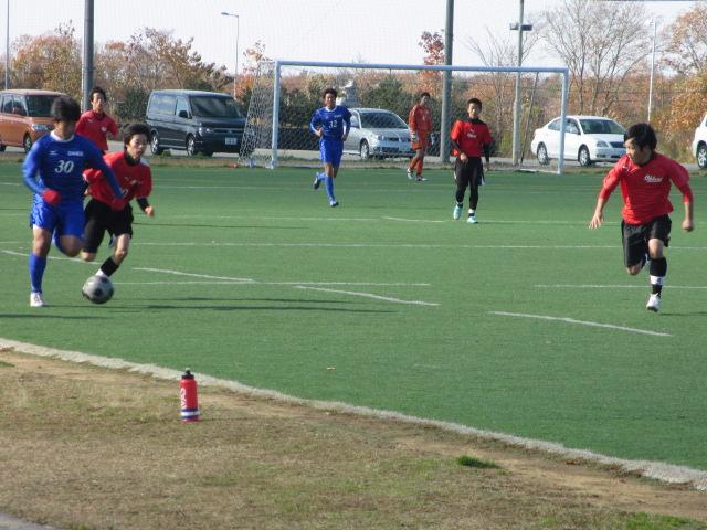 2012.11.25  サッカー部トレーニングマッチ 対小松大谷 120