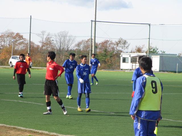 2012.11.25  サッカー部トレーニングマッチ 対小松大谷 125