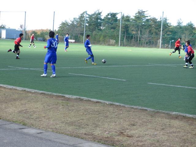 2012.11.25  サッカー部トレーニングマッチ 対小松大谷 121