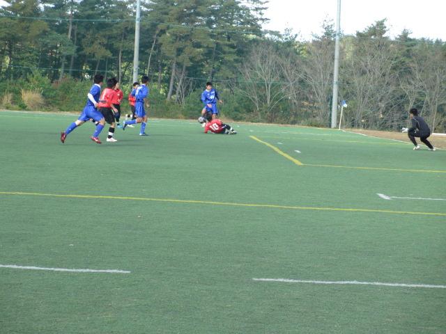 2012.11.25  サッカー部トレーニングマッチ 対小松大谷 130