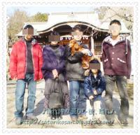 神社にて家族写真