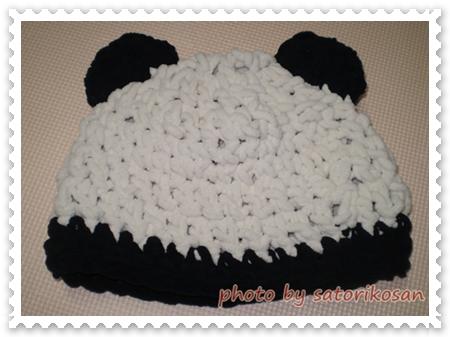パンダ帽子1
