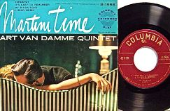 Martini Time_Art Van Damme Quintet_4 SELECTIONS COLUMBIA RECORDS 45 EP
