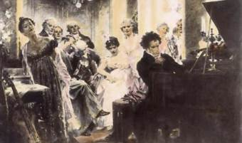 Julius Schmid, Beethoven plays at a social gathering at the house of Prince Lichnowsky