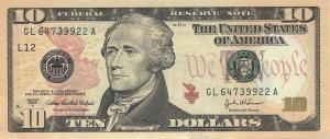 10 USdollar bill