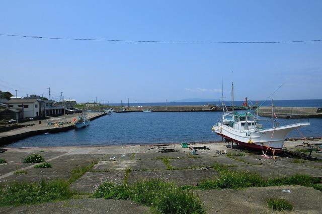 布良の漁港