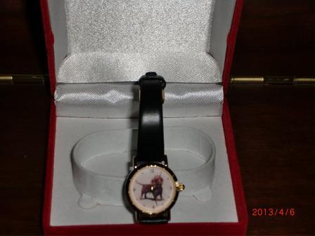 そう、マロちゃんの時計