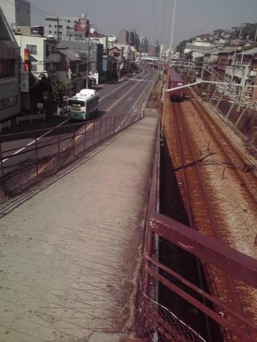 跨線橋の上より