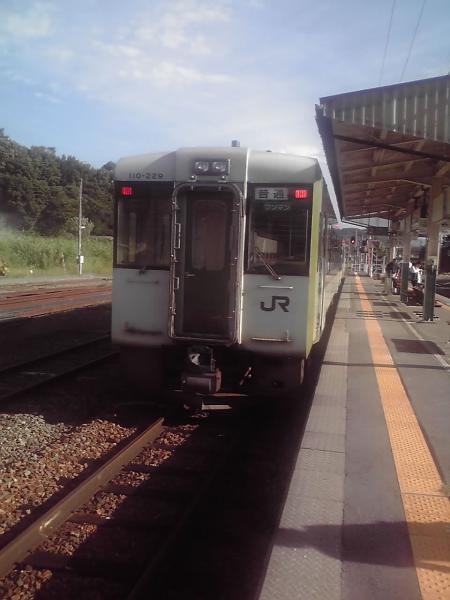 飯山駅のホーム