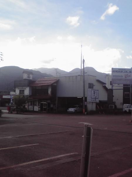 飯山駅前の風景