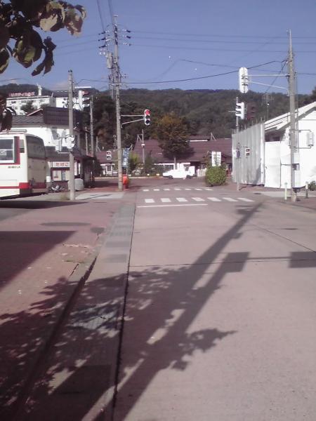 JR飯山駅前の四つ角