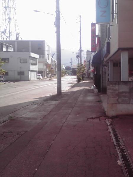 飯山市南町の町角3
