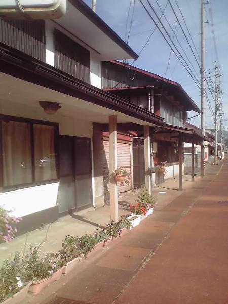 上町の雁木の家並み
