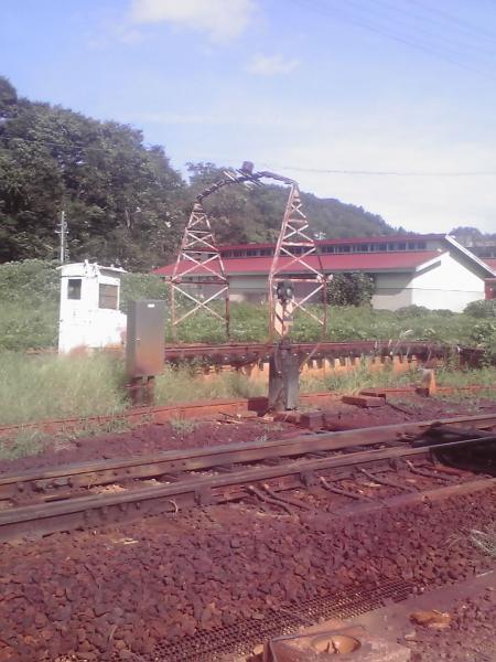 飯山線の線路際の風景