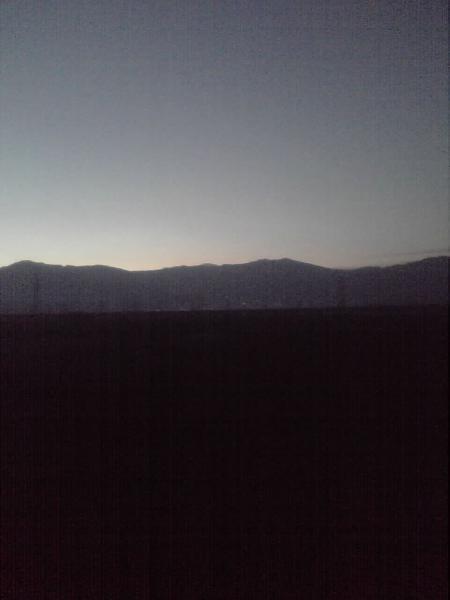 飯山線の明け方の風景
