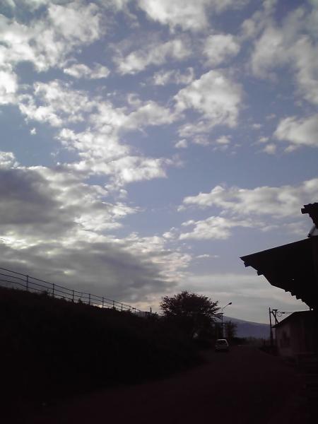 上今井駅郊外の風景