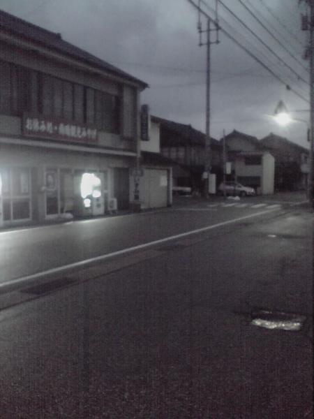 雨晴駅前の通り