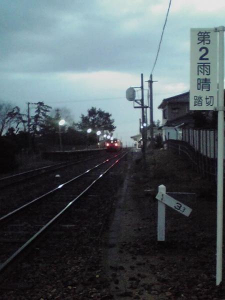 氷見駅ホーム遠望