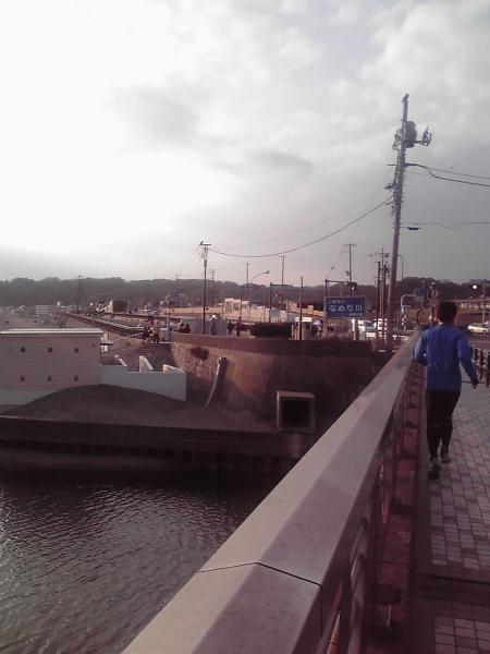 滑川沿いの光景
