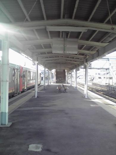 越中八尾駅ホーム