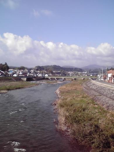 井田河畔より