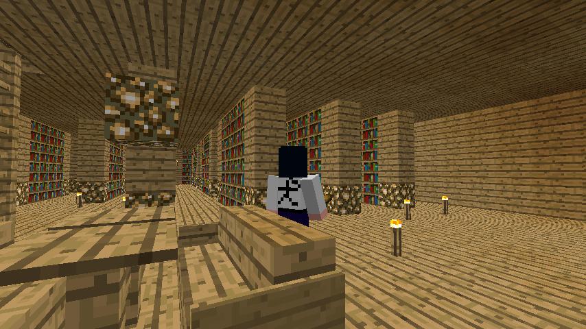 建物の中 図書室