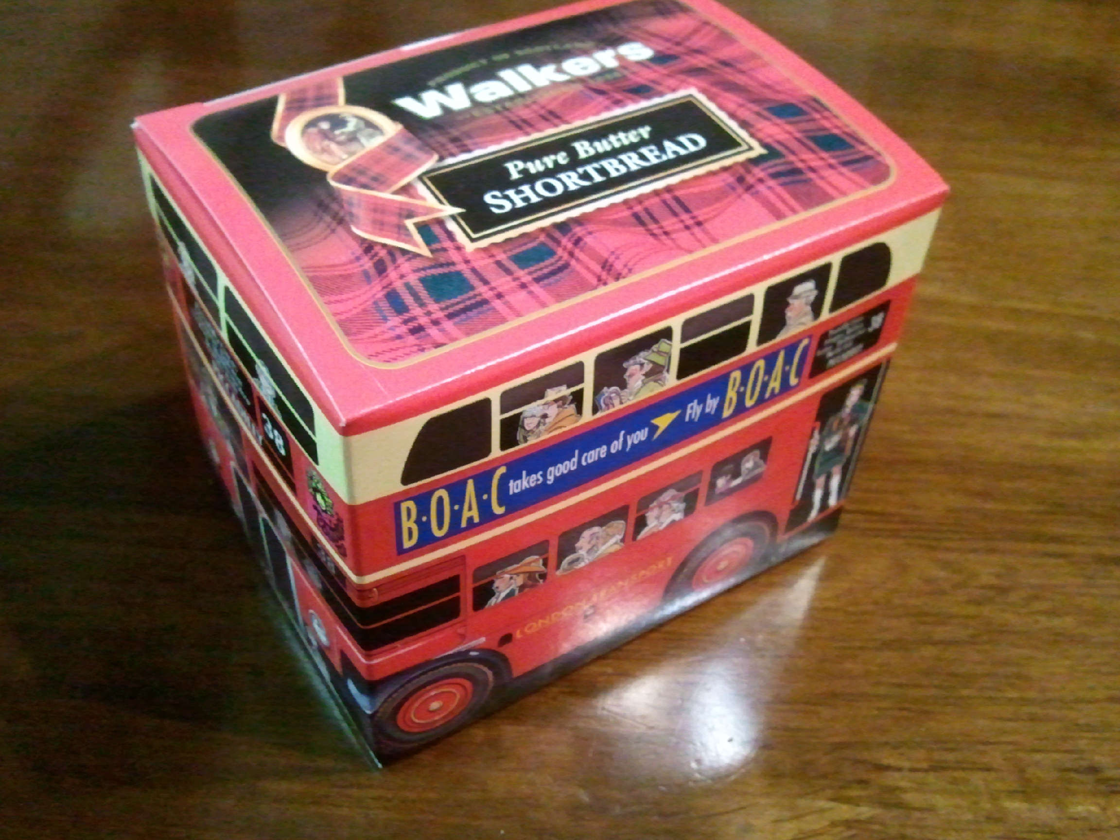 Walkers Pure Butter Shortbread Double Deck Bus