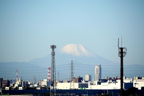 ベランダからの富士山