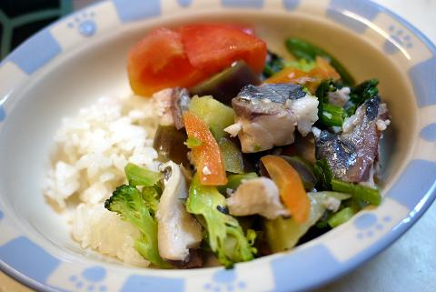 アジと野菜の炒め煮