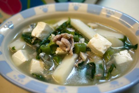 豚肉と焼き豆腐