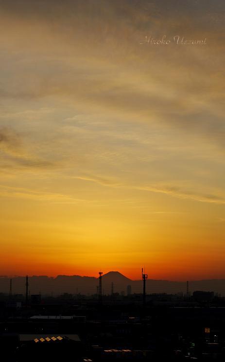 小寒の富士山