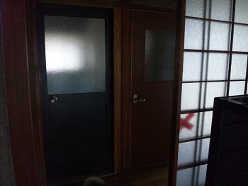 Wドア 施工後