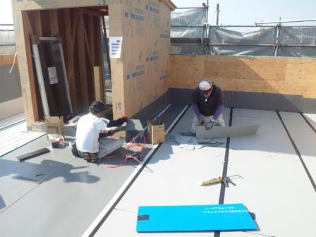 屋上庭園の防水工事