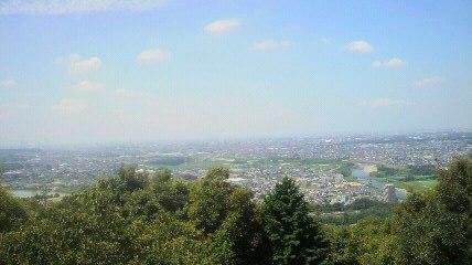 尾張戸神社から西の眺望