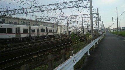 瀬戸電沿いを東進