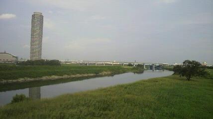 矢田川と庄内川合流地点