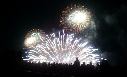 松江水郷祭の花火