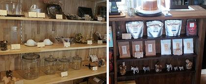 小物や茶葉の販売