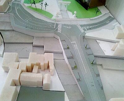 神門通りの模型