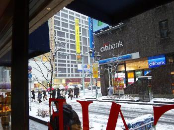 1月14日の銀座での雪景色です