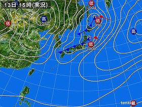 関東で27.4m/s!