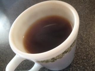 リネンのフィルターで淹れたコーヒー