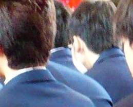 長男卒業式