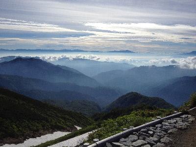 下山道の雲海