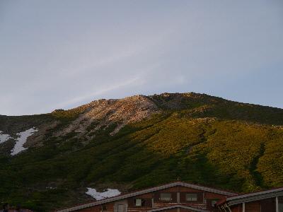 御前峰の夕日